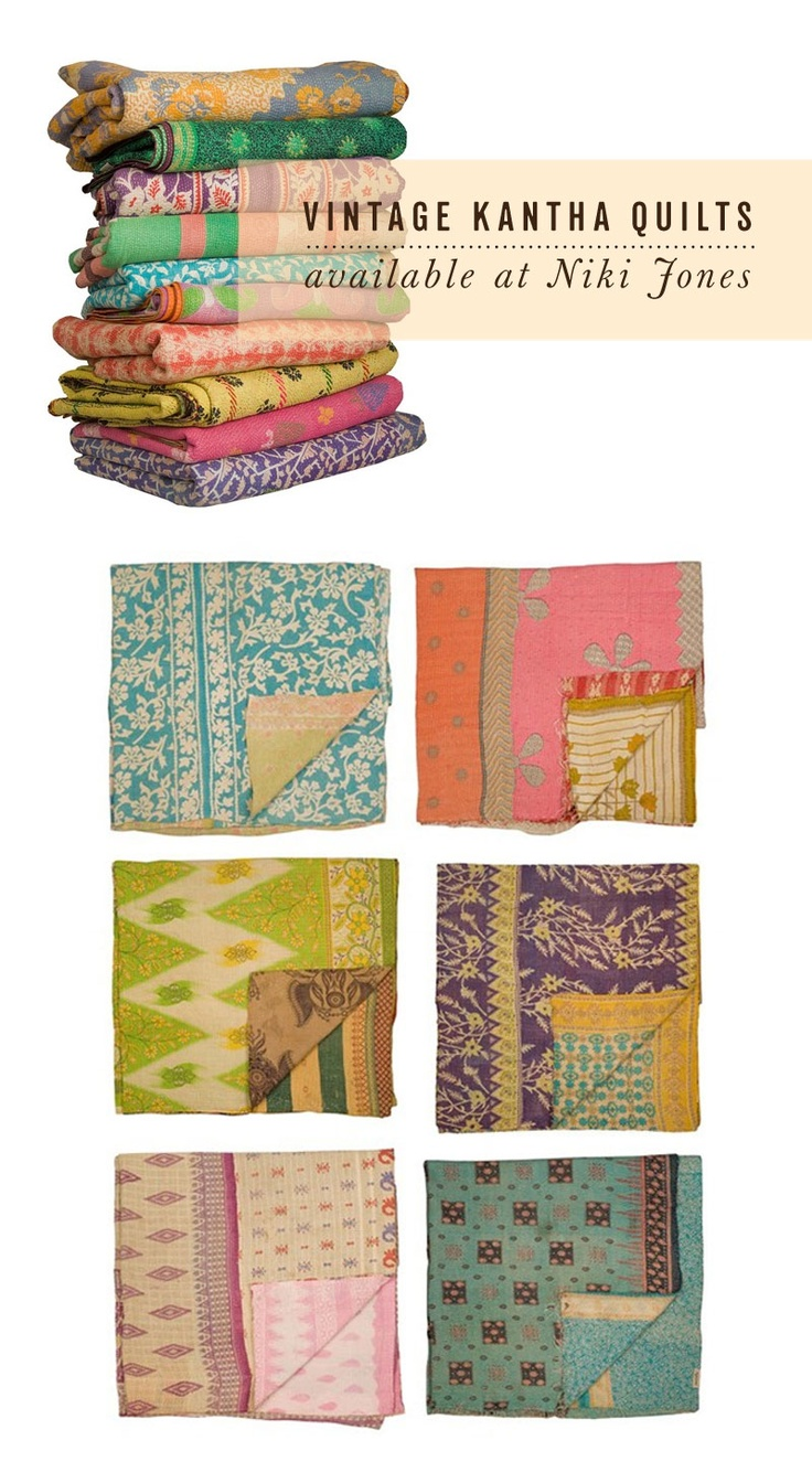 These quilts are so beautiful. I'd love to drap them over the back of the couch or find a few pillows with similar colors/designs.