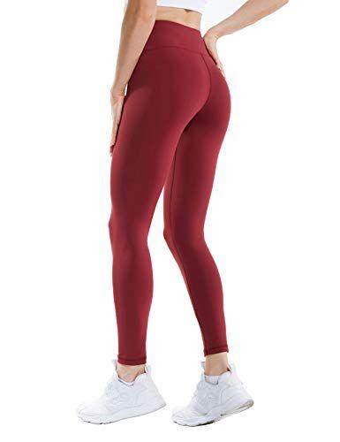 70cc3479bc39 ANBEBEED Women s High Waist Non See Through Gym Workout Leggings Tummy  Control Active Leggings Yoga Pants