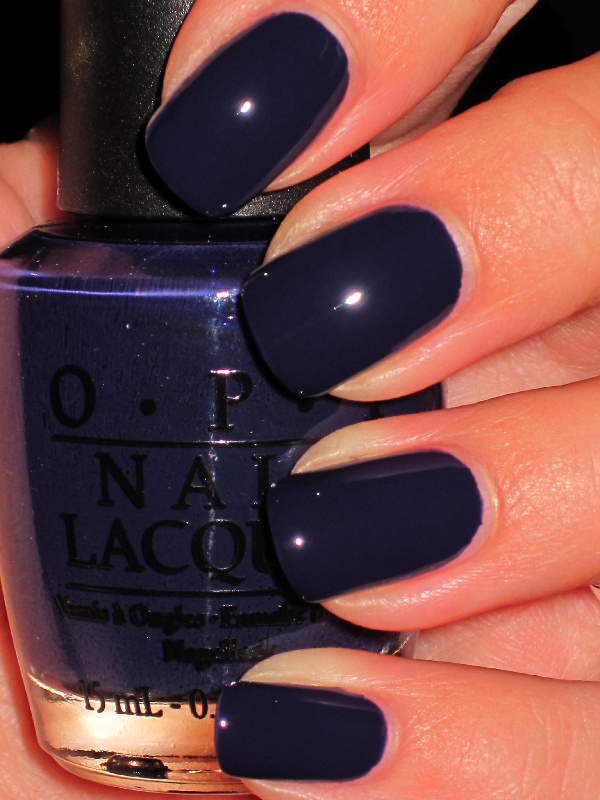 Currently painting my nails @OPI_PRODUCTS Road House Blues. ugh I am ...