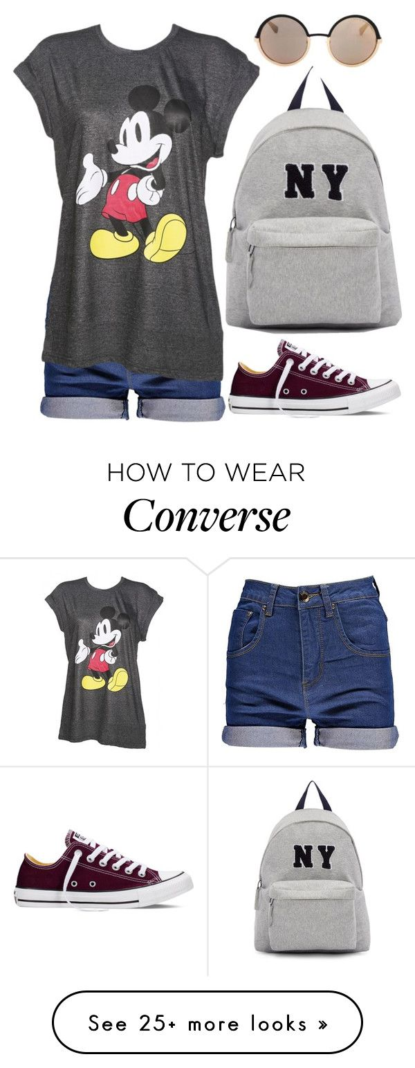 """""""NY"""" by dontneedfashion on Polyvore featuring Converse, Joshua's, Marc by Marc Jacobs, women's clothing, women's fashion, women, female, woman, misses and juniors"""