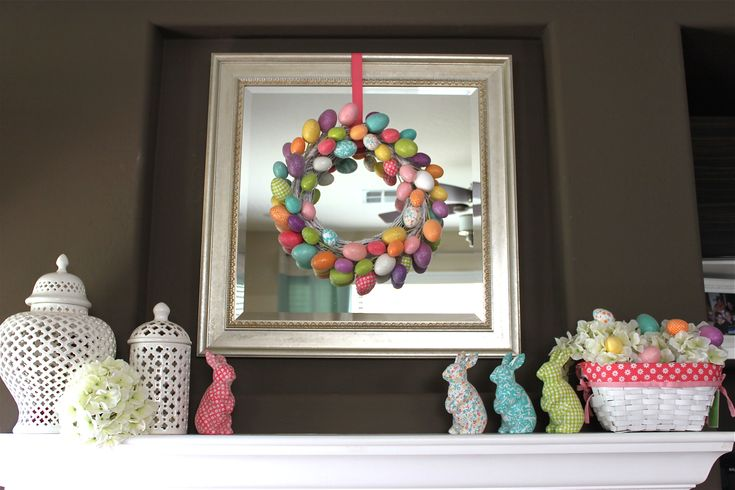 Easter Fireplace Decor: Easter Decor, Easter Fireplace, Holiday Decor, Fireplace Decor, Easter Spring, Easter Ideas