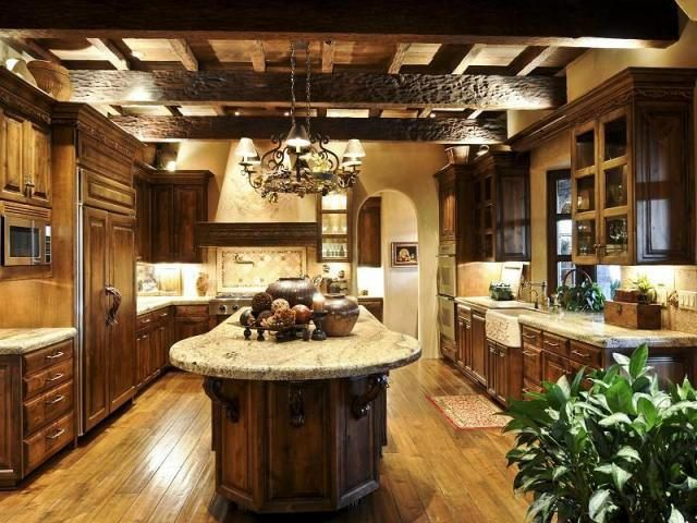 tuscan style kitchen - dreamy