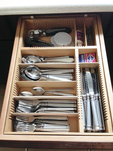 10 best images about flatware drawer organizers wood on for Silverware storage no drawers