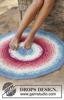 Crocheted rug. The pattern calls for expensive fancy Norwegian yarn; I'll just get cheap American rug yarn if it's going to be stepped on.