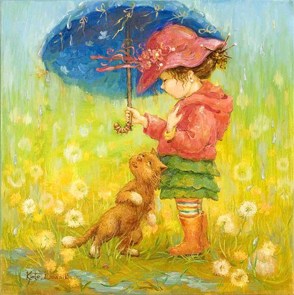 Дудник Екатерина / Синий зонт.