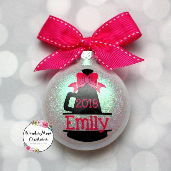 Cheerleader Megaphone Personalized Christmas Ornament Etsy Christmas Ornaments Ornaments Personalized Christmas Ornaments
