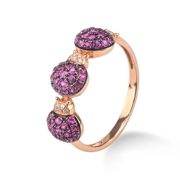Inel diamante si rubine DIGV00084 ‐ Bijuteria Teilor