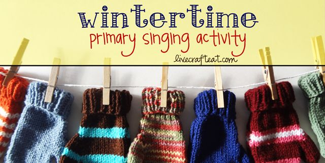 Try out this great idea for a primary singing time activity for the holidays by using hanging mittens to keep the kids engaged and singing.