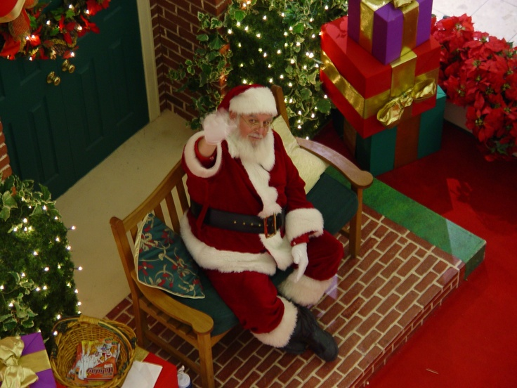 Santa Claus In Southpark Shopping Mall In Strongsville