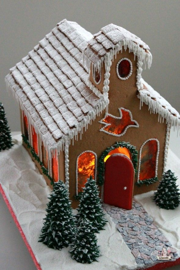 Gingerbread Church How To - Sweetopia
