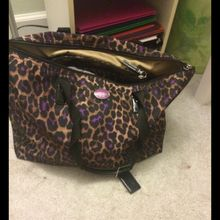 Coach Brown Leopard Large Tote