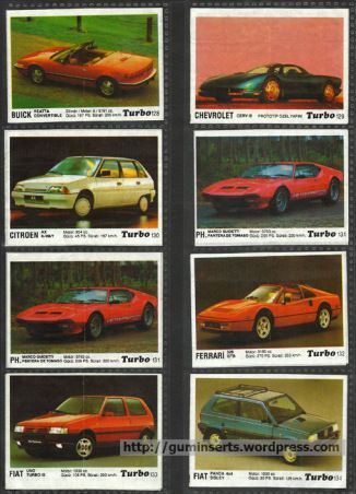 Turbo 121-190   My Bubble Gum Inserts Collection
