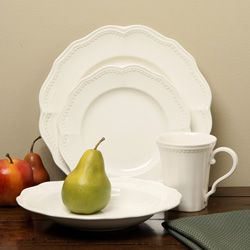 Red Vanilla Classic White 16-piece Dining Set   Overstock.com Shopping - The Best Deals on Casual Dinnerware