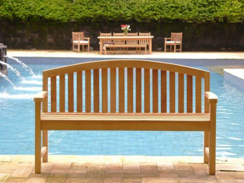 A very stylish contemporary style teak garden bench which has been  beautifully crafted from solid Grade A Teak sourced from Government  controlled and ...