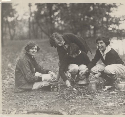 Students enjoy a day picnicking by the lake, December 2, 1926 :: Archives & Special Collections Digital Images