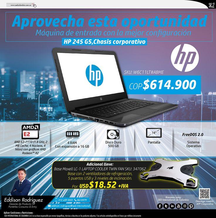 Aprovecha Esta Oportunidad, Máquina de Entrada con la Mejor Configuración: Contacta a tu gerente de producto para más información: Eddison Rodriguez Celular: 312 459-0051 Email: eddison.rodriguez@sed.international #HP #SEDColombia