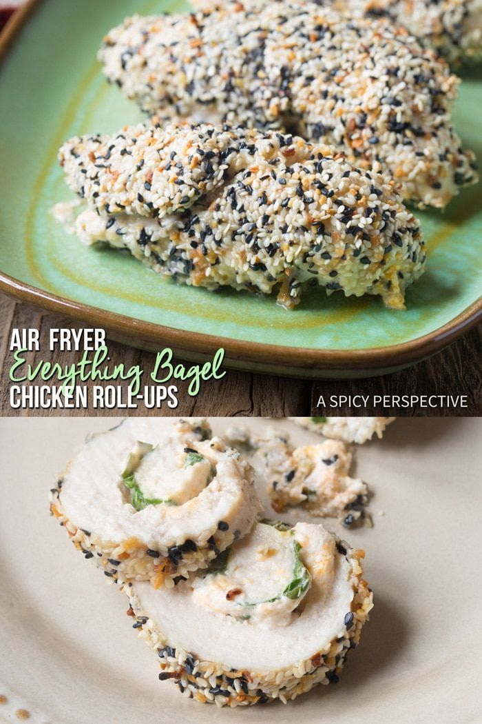 Air Fryer Everything Bagel Chicken RollUps A cozy low