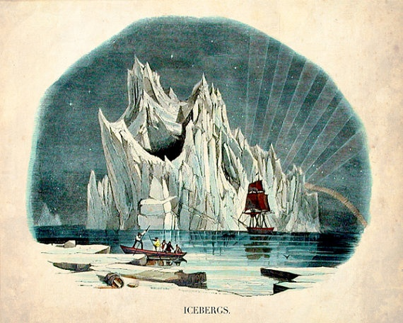 """The Iceberg"" - Victorian Nautical Nature Print. $20"