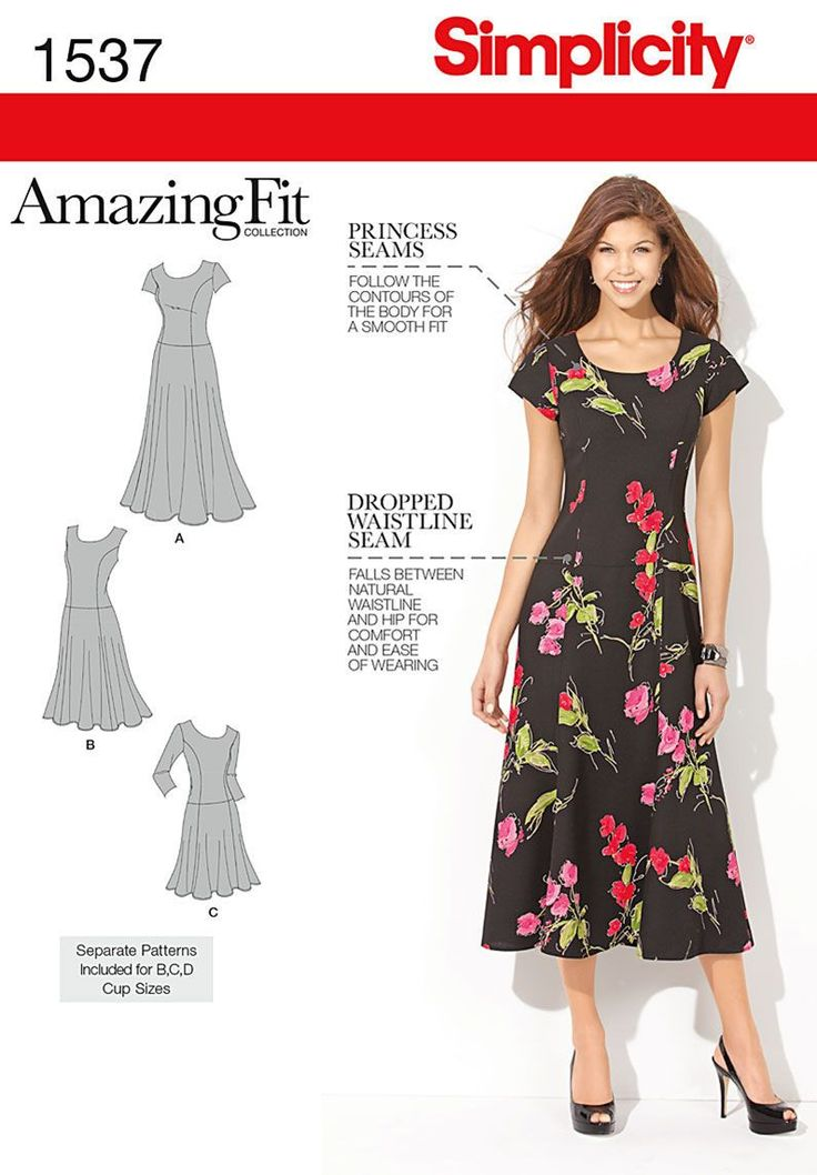 Simplicity Pattern 1537AA 10-12-14-1-Misses Dresses
