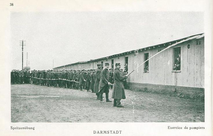 Exercice des pompiers du camps de prisonnier de Darmstadt