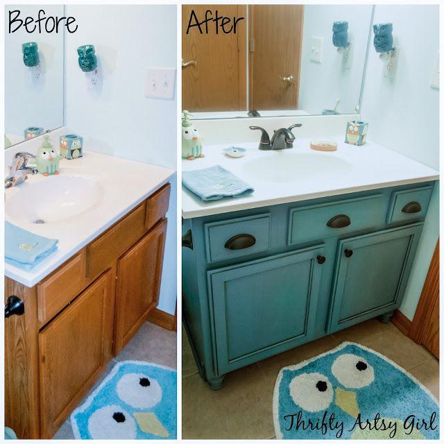Builders Grade Teal Bathroom Vanity And Faucet Upgrade For Only 60 In 2020 Teal Bathroom Faucet Upgrade Vanity