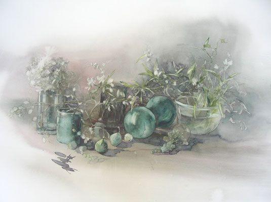 Pommes By Catherine Rey Fruits Peinture A L Aquarelle