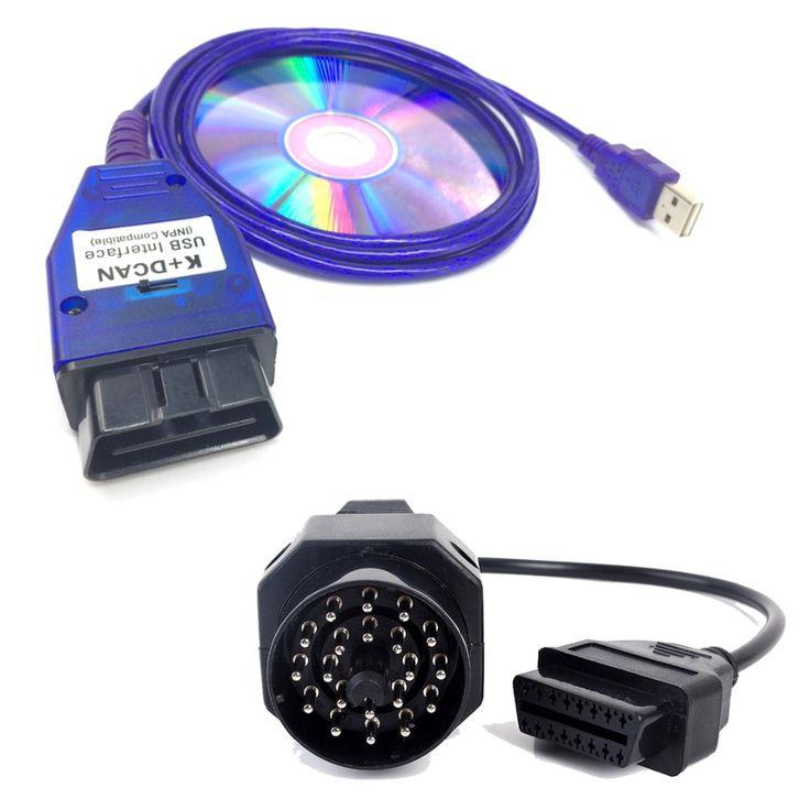 INPA/Ediabas K + DCAN Interface USB Cabo De Diagnóstico de Digitalização Leitor de Chip FT232RL para bmw INPA DIS SSS NCS Ligado UK Codificação + 20pin