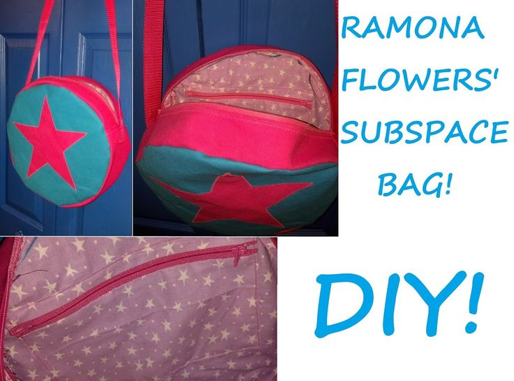 How to make Ramona Flower's subspace bag, with convenient pocket inside. I really want to do this!