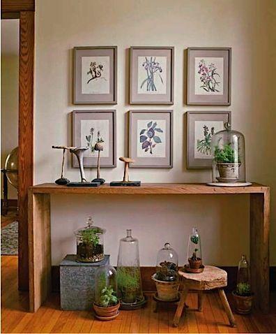 Idea Mat The Botanical Prints On Burlap Or Linen For