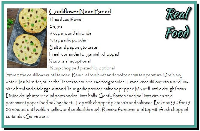 Cauliflower Naan Bread