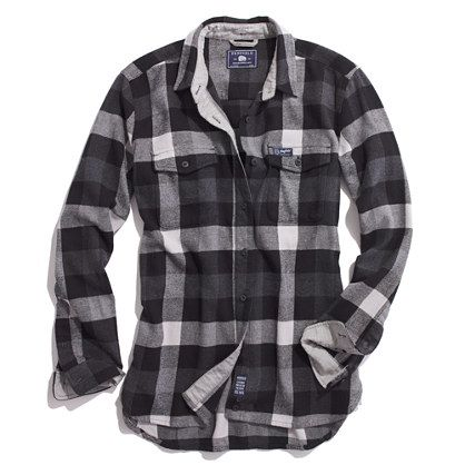 I have become a fan of flannel with the fall weather!  Madewell's Penfield Chatham Buffalo Plaid Flannel Shirt
