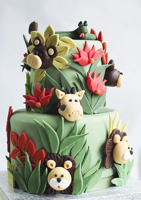 jungle cake www.julietstallwoodcakesandbiscuits.co.uk