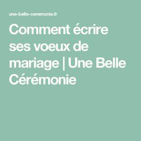 Comment écrire ses voeux de mariage | Une Belle Cérémonie