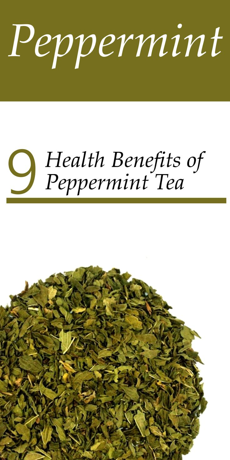 9 Health Benefits of Peppermint Tea. This medicinal herb calms muscle spasms, dries dampness, expels phlegm and clears the head. It is regarded as an excellent treatment for stomach cramps and upset associated with morning sickness, irritable bowel syndrome, indigestion and vomiting. The scent of peppermint alone can be used to relieve chest congestion and pain associated with asthma, bronchitis and sinus congestion.