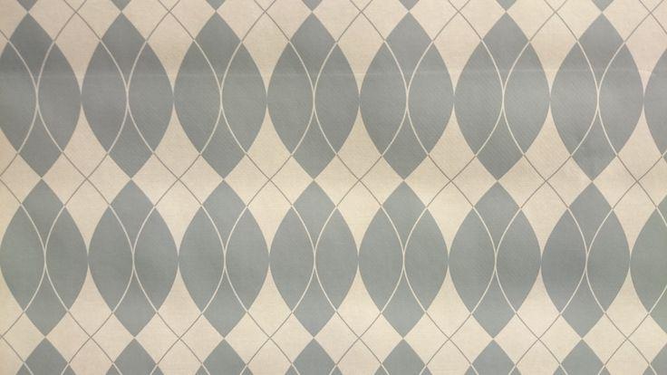 Tafelzeil retro motief grijs wit - Via Cannella kookwinkel | www.viacannella.nl