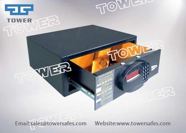 Electronic code drawer safe, electronic hotel safes, electronic home safes, digital hotel safes, digital home safes, electronic digital code hotel safes, hotel room safes.Ningbo Tower industrial co.,ltd manufacture kinds of electronic safe locks, safe locks for sale, mechanical safe locks, mechanical combination safe locks, digital safe locks, electronic code locks, time delay safe locks, locks for safe, hotel safe locks, home safe locks, digital hotel room safes, electronic hotel room…