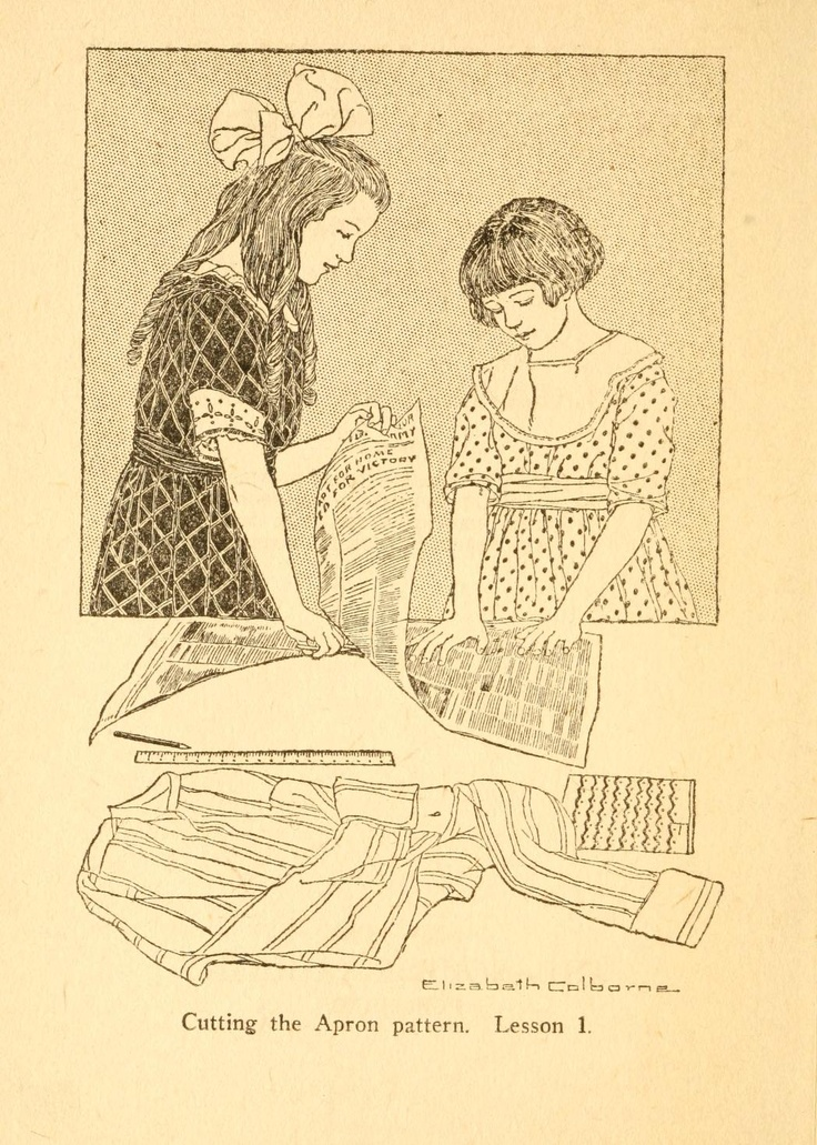 """""""Sewing Without Mother's Help: A Story Sewing Book for Beginners"""" by Clara Ingram Judson, c. 1921"""
