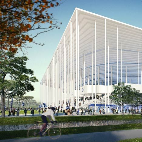 Herzog & de Meuron's design for a stadium for Bordeaux that will host football matches for Euro 2016
