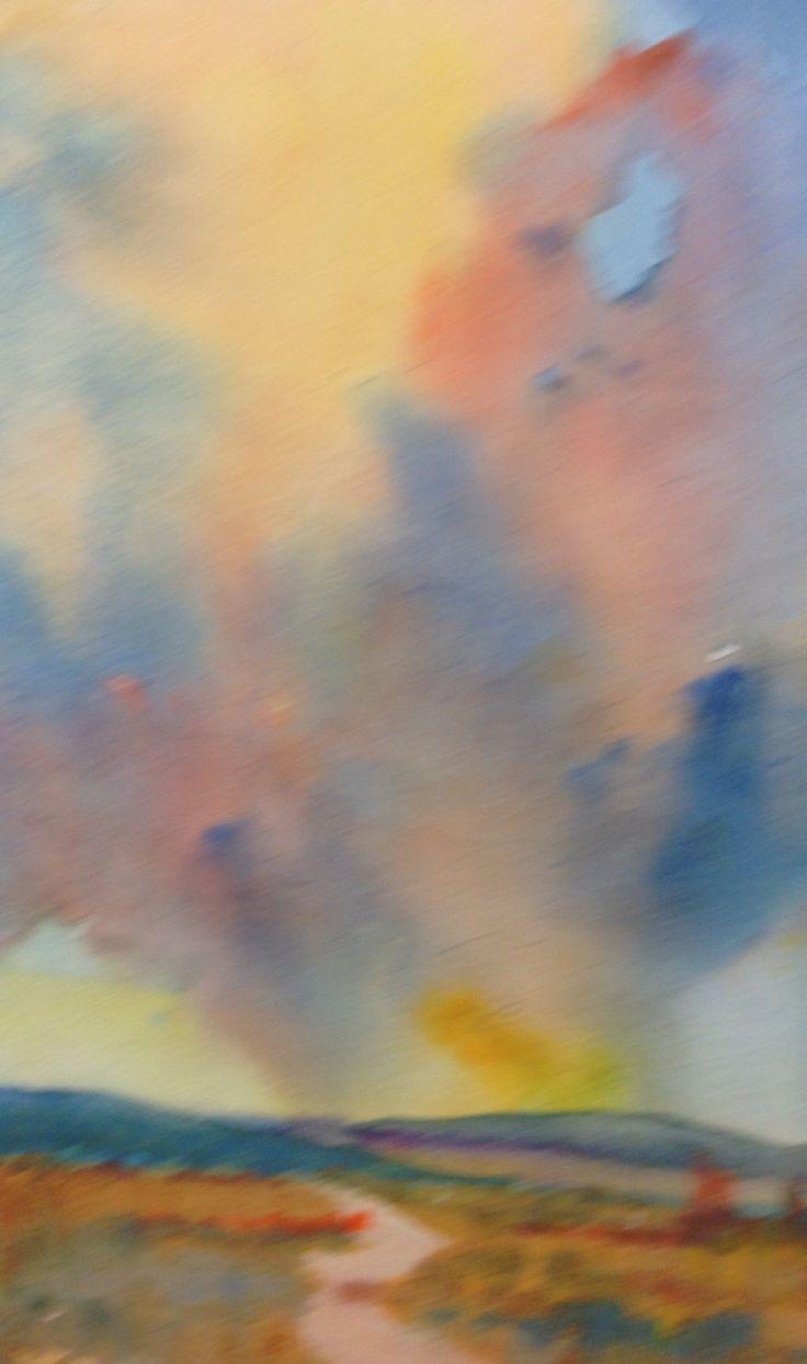 A colourful sky.Watercolour.