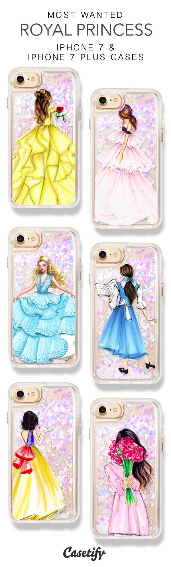 Most Wanted Royal Princess iPhone 7 Cases & iPhone 7 Plus Cases. More Protective Liquid Glitter Princess iPhone case here > https://www.casetify.com/en_US/collections/iphone-7-glitter-cases#/?vc=cBUAcDsCCy