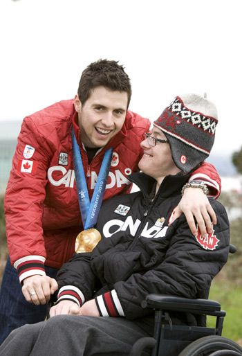 Alex and Frederic Bilodeau. They have such a cool and inspiring relationship.