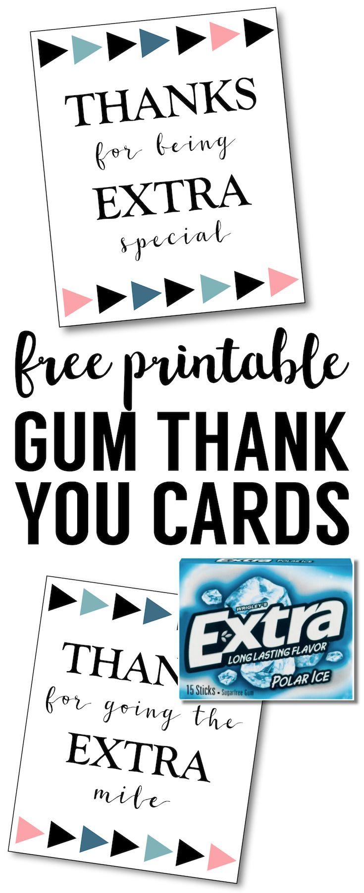Extra Gum Thank You Printable Paper Trail Design Extra Gum Teacher Cards Teacher Appreciation Printables