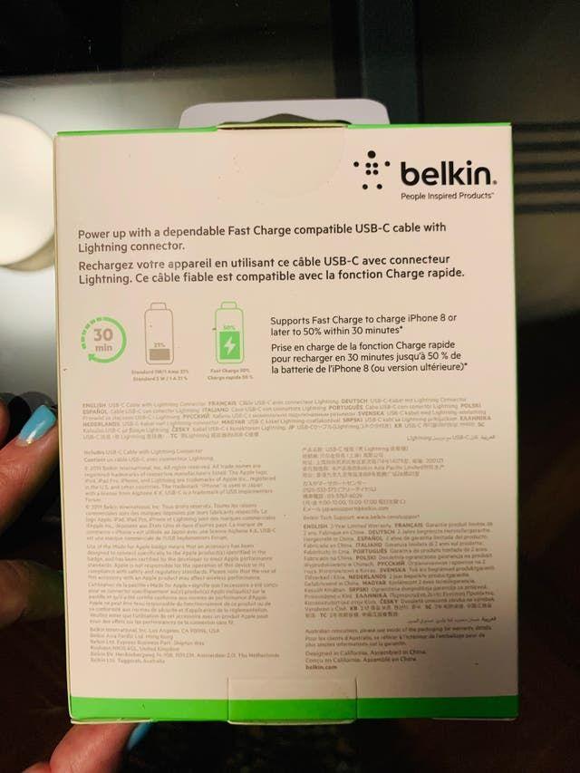 Belkin Boost Charge Cable Con Conector Lightning De Segunda Mano