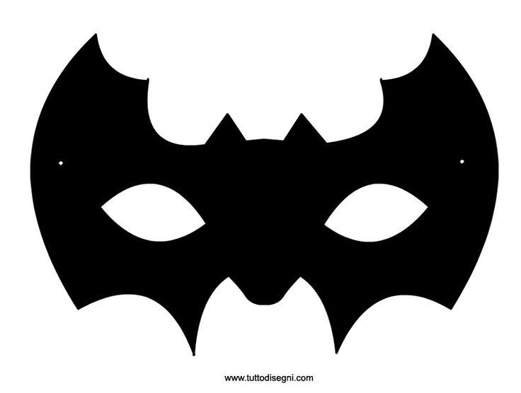 Maschera pipistrello da ritagliare