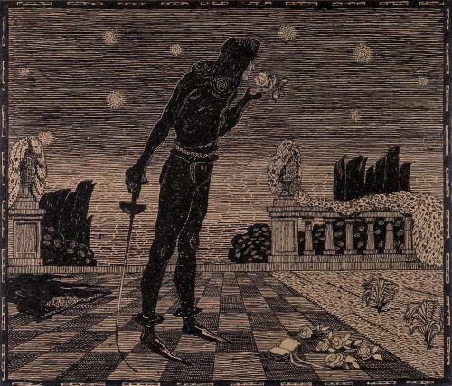 Jan Konupek (Czech, 1883-1950) Hamlet à la Rose, 1908