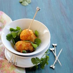 Niramish Dum Aloo – Spice Coated Baby Potatoes - Serve as a side or ...