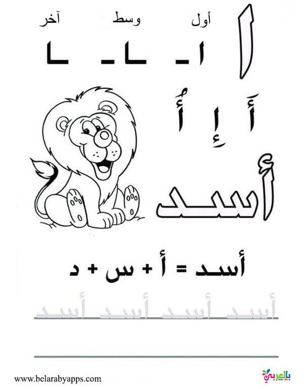 اوراق عمل لتعليم كتابة الحروف العربية للاطفال للطباعة اوضاع الحروف في الكلمه بالعربي نتعلم Learn Arabic Alphabet Arabic Alphabet Letters Learning Arabic