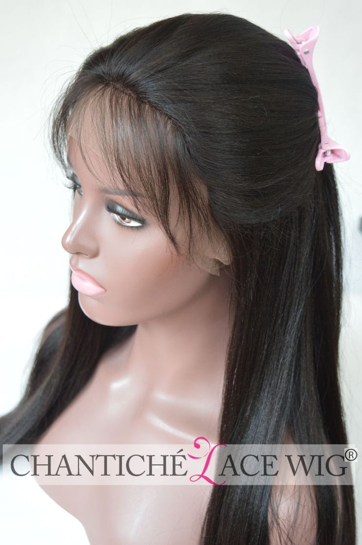 Best Human Hair Lace Front Wigs African Americans Brazilian Remy Yaki Straight