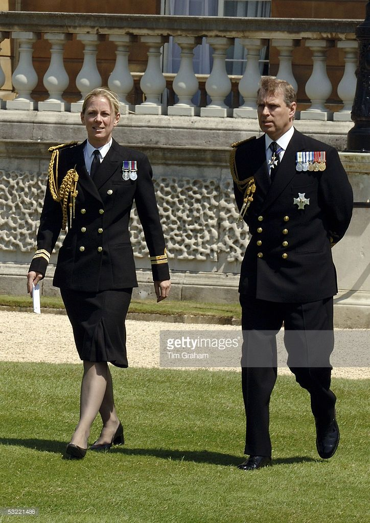 Prince Andrew Duke of York during the lunch in the garden of Buckingham Palace as part of the commemorations for the end of World War II, on July 10, 2005 in London, England.