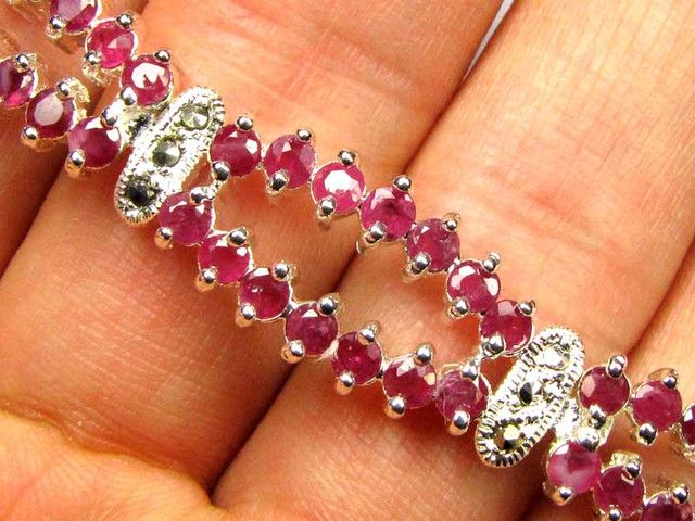 Bracelet  with Rubies  87.00  CTS 90683  NATURAL RUBY GEMSTONE BRACELET   FROM GEMROCKAUCTIONS.COM